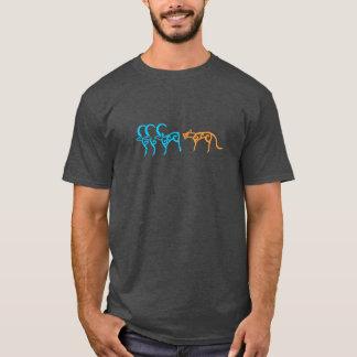 Felsen Carvings der sibirischen Tiere T-Shirt