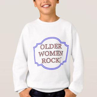 Felsen der älteren Frauen Sweatshirt