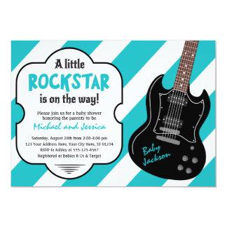 Felsen der Rockstar Babyparty-Einladungs-  ein Karte