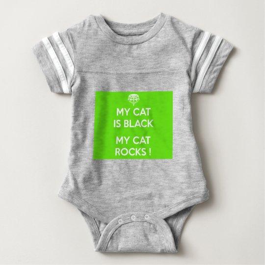 Felsen der schwarzen Katze Baby Strampler