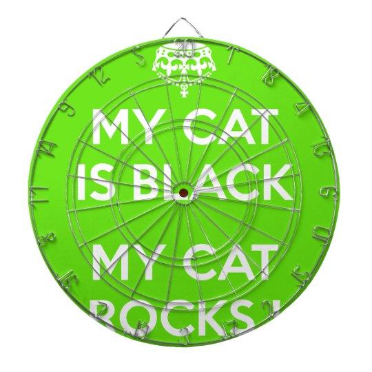 Felsen der schwarzen Katze Dartscheibe