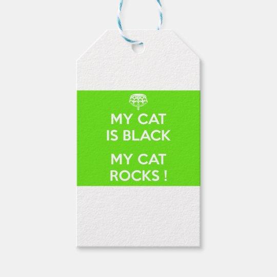 Felsen der schwarzen Katze Geschenkanhänger
