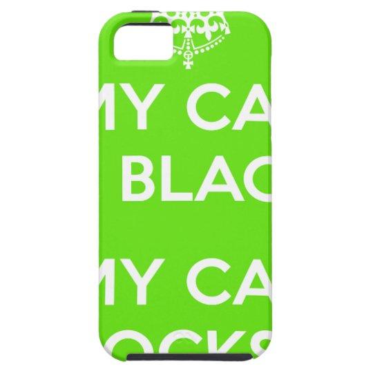 Felsen der schwarzen Katze iPhone 5 Schutzhülle