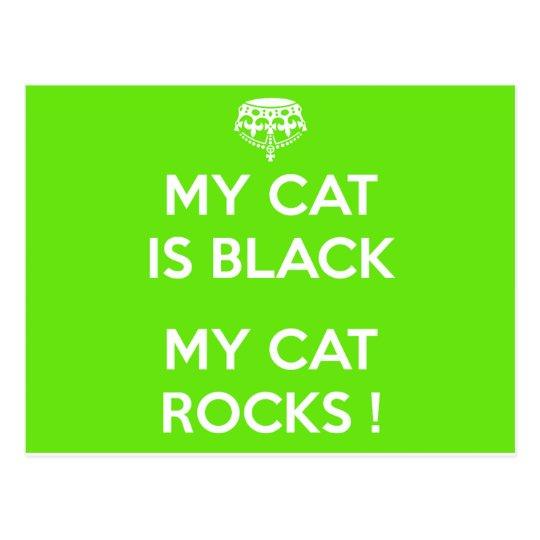 Felsen der schwarzen Katze Postkarte