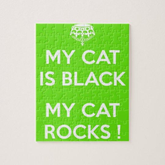 Felsen der schwarzen Katze Puzzle