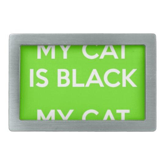 Felsen der schwarzen Katze Rechteckige Gürtelschnalle