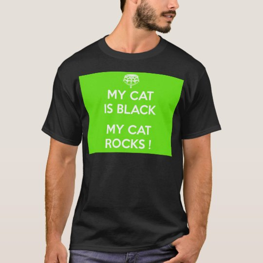 Felsen der schwarzen Katze T-Shirt