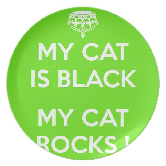 Felsen der schwarzen Katze Teller