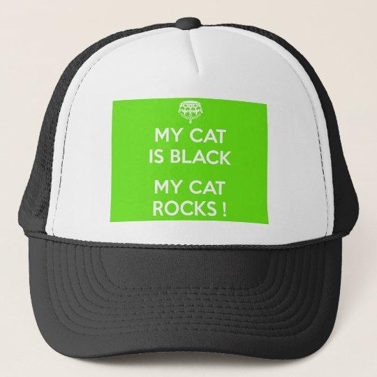 Felsen der schwarzen Katze Truckerkappe