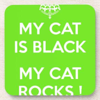 Felsen der schwarzen Katze Untersetzer