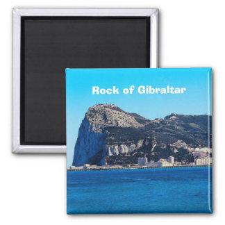 Felsen des Gibraltar-Reise-Foto-Andenken-Magneten Quadratischer Magnet