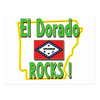 Felsen EL Dorado! (Grün) Postkarte