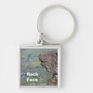 Felsen-Gesicht keychain Schlüsselanhänger