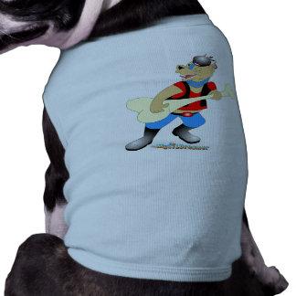 Felsen-Gitarrist-Bulldogge Hunde T Shirts