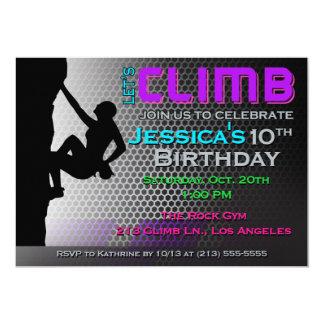 Felsen-Kletterngeburtstags-Einladung - lassen Sie 12,7 X 17,8 Cm Einladungskarte