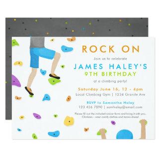 Felsen-Kletterngeburtstags-Party Einladung -