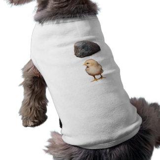 Felsen + Küken Hunde-t-shirt