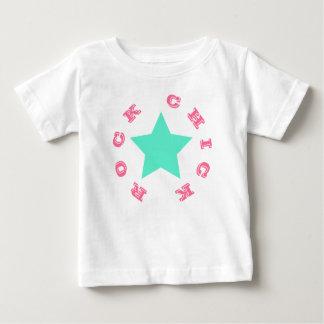 FELSEN-KÜKEN | rosa u. aquamariner Baby T-shirt