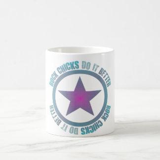 Felsen-Küken verbessert es - klassische weiße Tass Tasse