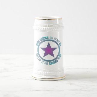 Felsen-Küken verbessert es - Stein Bierkrug