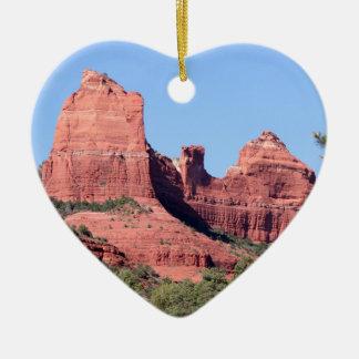 Felsen nähern sich Sedona, Arizona Keramik Herz-Ornament