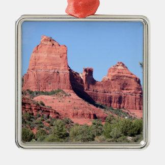 Felsen nähern sich Sedona, Arizona Quadratisches Silberfarbenes Ornament