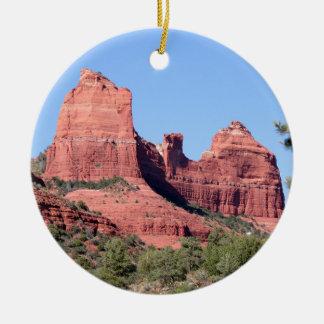 Felsen nähern sich Sedona, Arizona Rundes Keramik Ornament