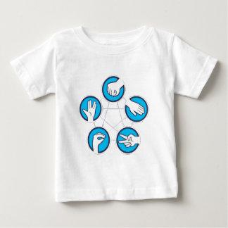 Felsen-Papier Scissor Eidechse Spock Baby T-shirt