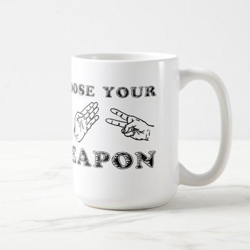 Felsen-Papierschere-lustiger Tassen-Spaß