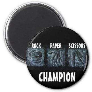 Felsen-Papierscheren Runder Magnet 5,1 Cm