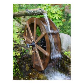 Felsen-Stadt-Wasser-Rad Postkarte
