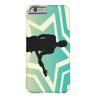 Felsen-Stern darstellend mit Gitarre auf Barely There iPhone 6 Hülle