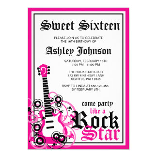 Felsen-Stern-Gitarren-Bonbon 16 Karte