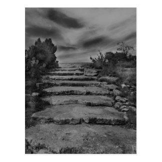 Felsen-Treppen-Postkarte Postkarte