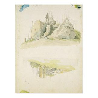 Felsen und Baum: Zwei Studien, am 12. Juli 1810 Postkarte