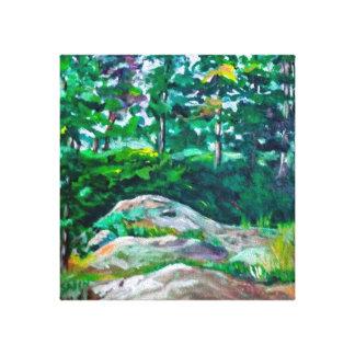 Felsen und Bäume Leinwanddruck