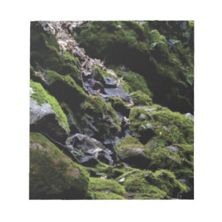 Felsen und Moos Notizblock