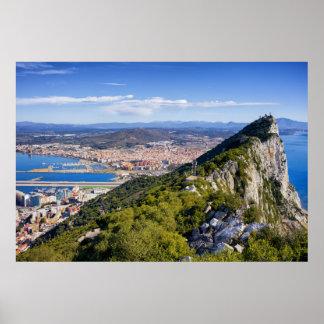 Felsen von Gibraltar Poster