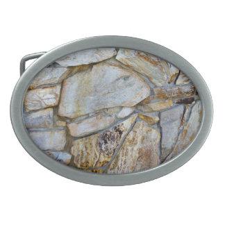 Felsen-Wand-Beschaffenheits-Foto Ovale Gürtelschnalle