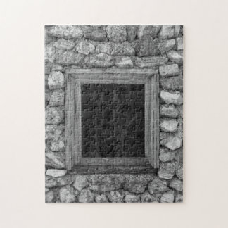 Felsen-Wand-FensterGrayscale Puzzle