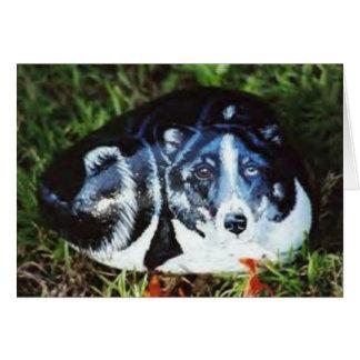 "Felsenkarte ""Fräuleins Beasley"" Hunde Karte"