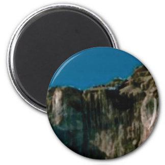 Felsenklippen des blauen Himmels Runder Magnet 5,1 Cm