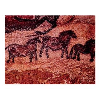Felsenmalerei von tarpans, c.17000 BC Postkarte