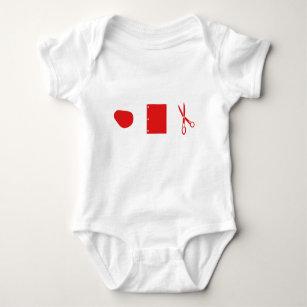 Felsenpapierscheren für Baby Baby Strampler