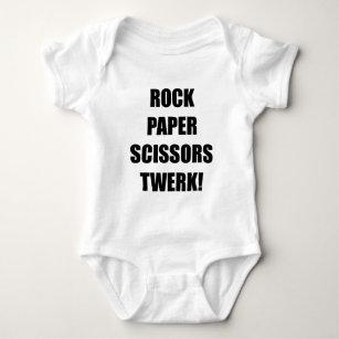 Felsenpapierscheren twerk baby strampler