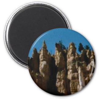 Felsentürme und -säulen runder magnet 5,1 cm