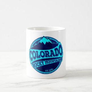 Felsige Gebirgsaquamarine der blauen Tinte Kaffeetasse