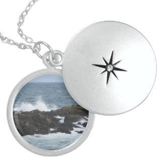Felsige Küste in York Maine Sterling Silberkette