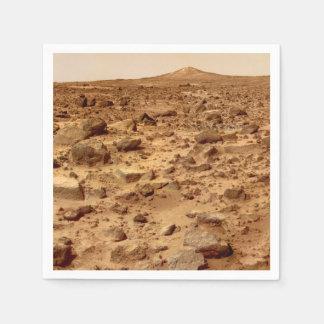 Felsige Oberfläche der Planeten-Mars Papierserviette