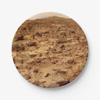 Felsige Oberfläche der Planeten-Mars Pappteller